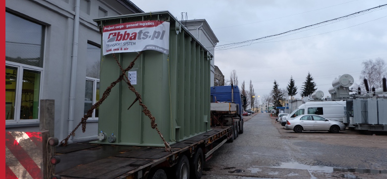 Special transport, transformer transport to Belarus