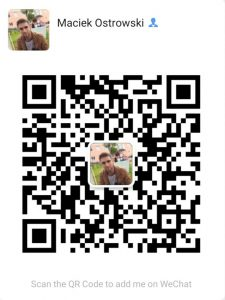 QR Codes In China Author's QR Code To Contact On WeChat App