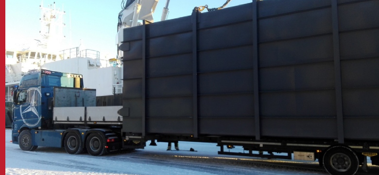 Project Cargo Transportation Of Oversized Goods Using Specialistic Platform Trailers